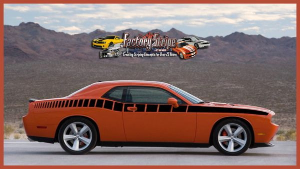 Dodge Challenger Side Strobe Graphic Factory Stripe Style