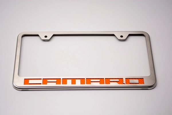 Camaro License Plate Frame with \