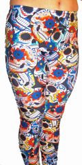 Day of the Dead, Sugar Skull, Día de Muertos Leggings