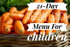 Free 21- Day Vegan Lunch menu for Children