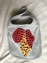 Dark Pink and Yellow Culture Bib Africa
