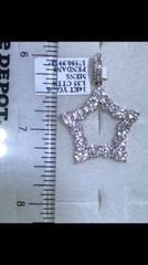 14K Solid Yellow Gold Real Diamond Divid Start Pendant