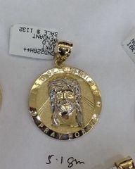 10k Solid Yellow Gold Jesus mid Pendant