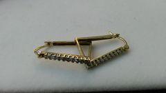 Hoop earrings, lady earrings, yellow Gold, 10 K c.f.,x