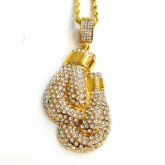 Pure Stainless steel chains and charm gold tone with Crystal's W4329
