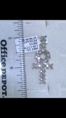 10K Solid Yellow Real Diamond Cross