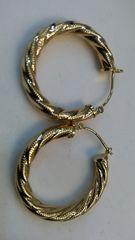 Hoop earrings solid yellow Gold woman 10K Solid Yellow Gold