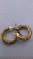 Hoop earrings, lady earrings, yellow Gold, 10 K ,1.47