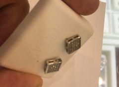 Sterling silver lab diamond earring