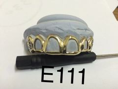 6 Open face diamond cuts gild Teeth