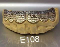 6 Gold Teeth E108 White /yellow diamond cuts