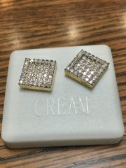 Sterling Silver Yellow Color, A00066-11G, Screwback Earring