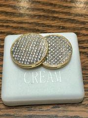 Sterling Silver Yellow Color Earring A525-18TT, Screwback Earring