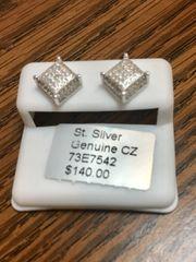 Sterling Silver 73E7542 Screwback Earring