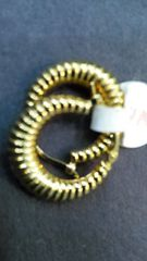 Lady hoop earrings 14 K solid yellow Gold cxx