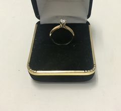 14KT Solid Yellow Gold, Real Diamond Lady Rings, E156