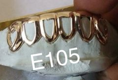6 -E105 open face gold Teeth