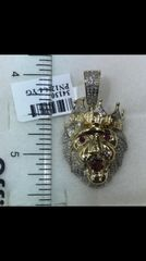 10k Solid Yellow Gold Real Diamond lion