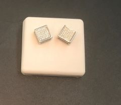 Sterling silver square earring