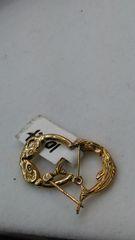 Hoop earrings, lady earrings, yellow Gold, 10 K ,., iuy
