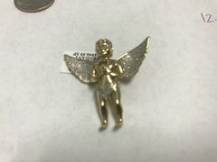 10kt solid yellow gold diamond Angle