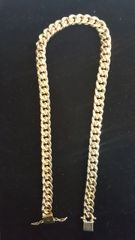 10KT Real Solid Miami Cuban Chain