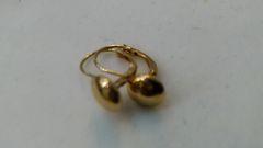 Hoop earrings, lady earrings, yellow Gold, 10 K cvf,
