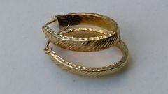 Hoop earrings, lady earrings, yellow Gold, 10 K