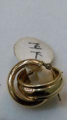 Hoop earrings, lady earrings, yellow Gold, 14K c.f.,:),