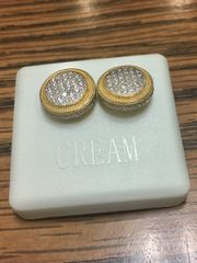 Sterling Silver Yellow Color A531-14TT, Screwback Earring