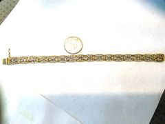 Lady Tennis 10 K yellow gold bracelet