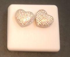 Sterling Silver heart earring