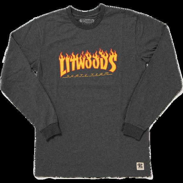 *NEW LitWoods Skate Team Long Sleeve T Shirt