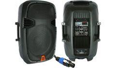"Mr Dj PBX2610PKG 15"" Woofer 2000 Watts Active Powered Loudspeaker Package System"
