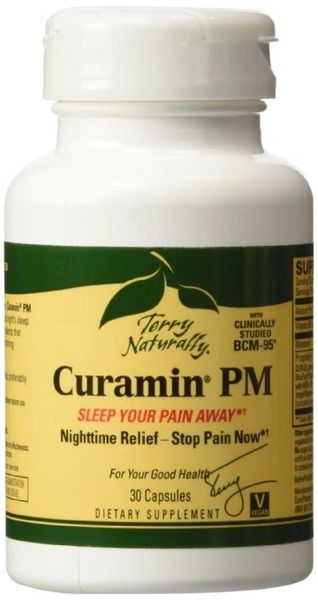 Curamin PM Nighttime Pain Relief with Clinically Studied BCM95 Curcumin 30 Cap