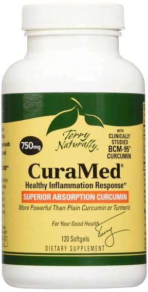 CuraMed BCM-95 Curcumin, 750 mg, 120 Softgels