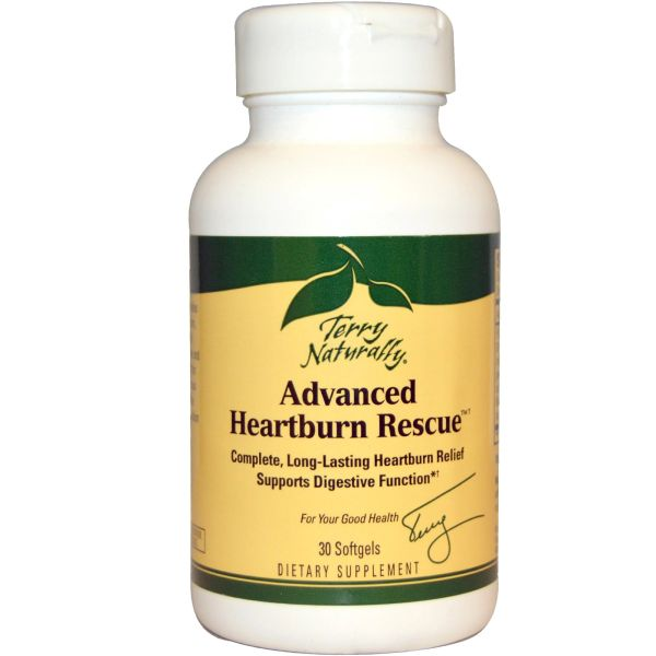 Advanced Heartburn Rescue, Terry Naturally, 30 Softgels