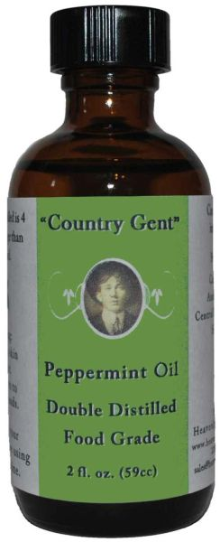 Peppermint Oil, Double Distilled Food Grade, 2 oz