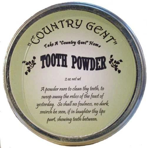 """""""Country Gent"""" Tooth Powder in Tin, 3 oz"""