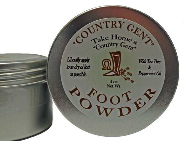Foot Powder in Screw Top Tin, 4 oz