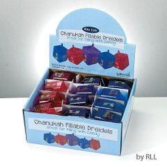 Candy Fillable Dreidels, Assorted Colors