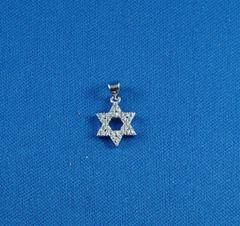 Charm Star of David SS W/Zirconia Stone