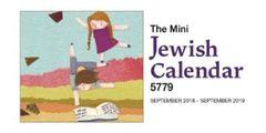 Mini Jewish Calendar 2018-2019