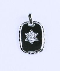 Necklace Dog Tag Star of David Sterling Silver