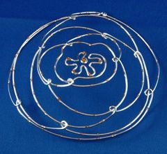 Kippah Wire Silver Assorted