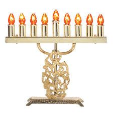 "Electric Menorah Brass ""Nes Gadol..."""