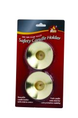 Dripper 2-pk. Safety Candle Holder Gold or Silver