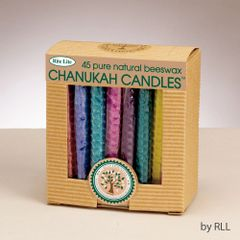 Chanukah Candles - Honeycomb Beeswax, Assorted Colors