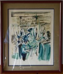 """Succoth"" LIthograph Framed"