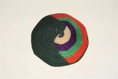 Kippah Hand Crochet Large Multicolor Assorted Colors And Designs